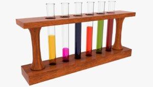 test tube lab model