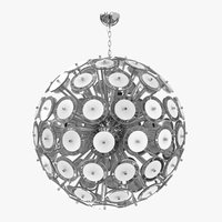 3D chandelier white murano glass model