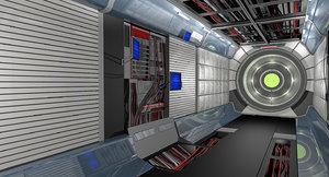 interior hallway 3D model