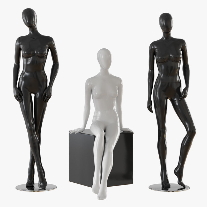 3D model mannequin abstract