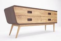 drawer cabinet 3D