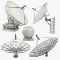 3D model satellite dishes
