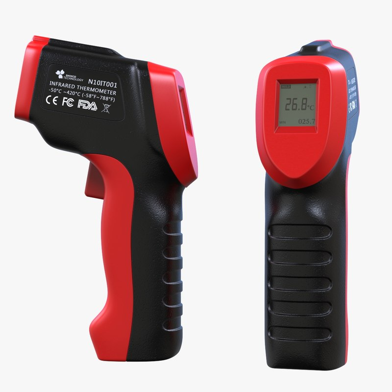 3D model temperature gun infrared thermometer