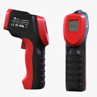 3D model temperature gun infrared thermometer
