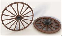 wagon wheel 3D model