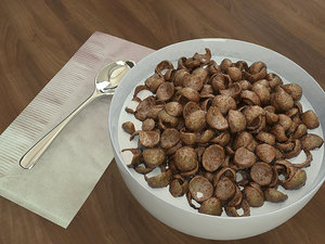 chocolate cereals bowl 3D model