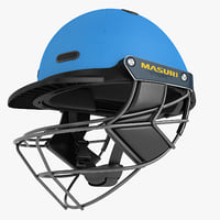3D model cricket helmet masuri