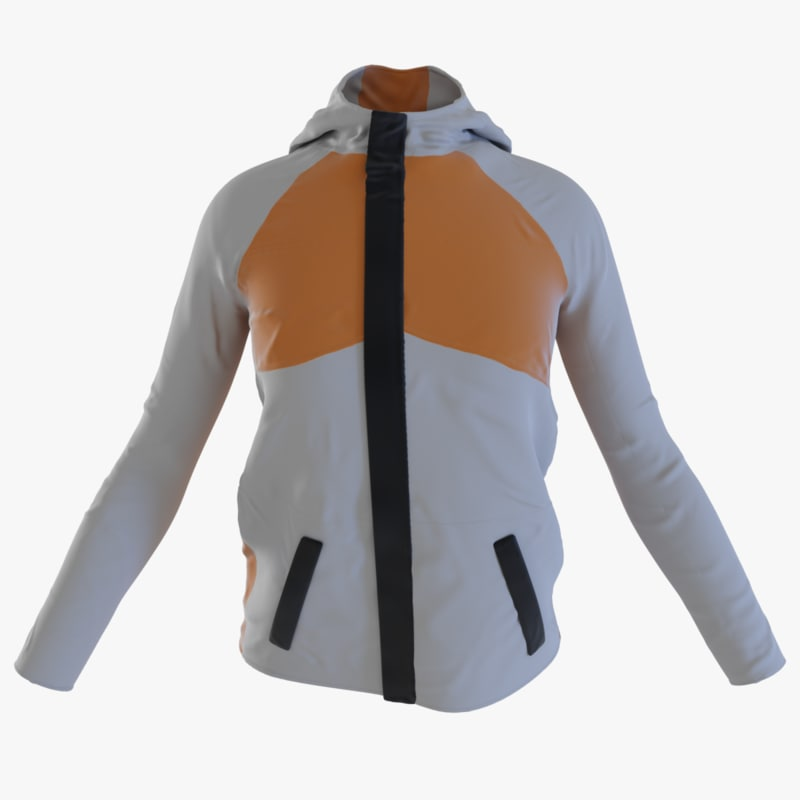 3D winter jacket model