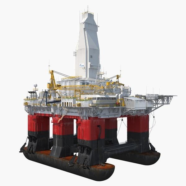 semi submersible drilling rig 3D model