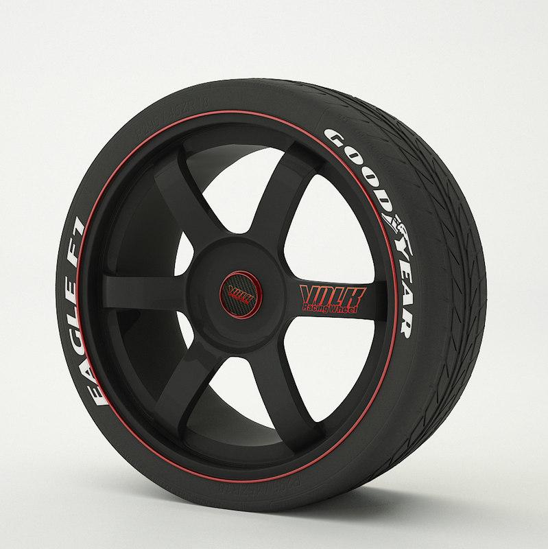 spoke rim tire 3D