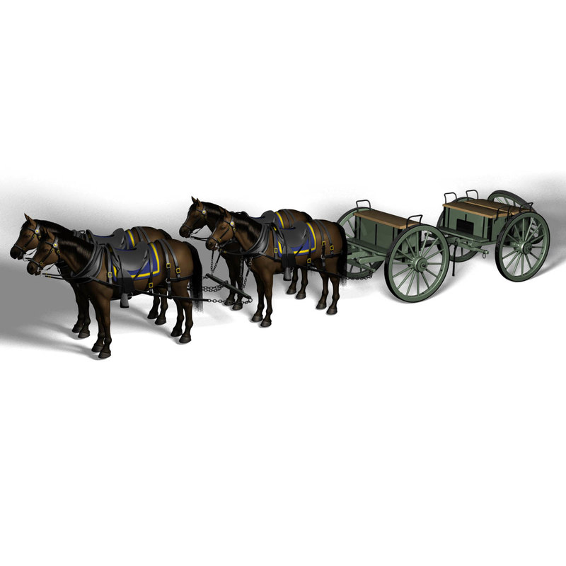 3D model civil war cannon crew