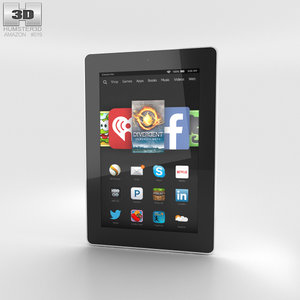 hd 7 amazon 3D model