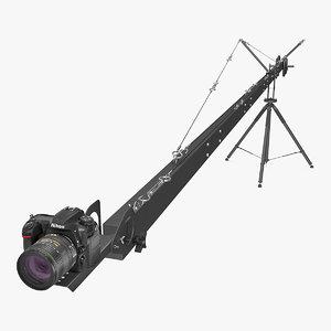 3D nikon d500 professional camera model