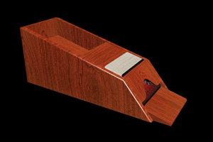 3D wooden blackjack dealer shoe