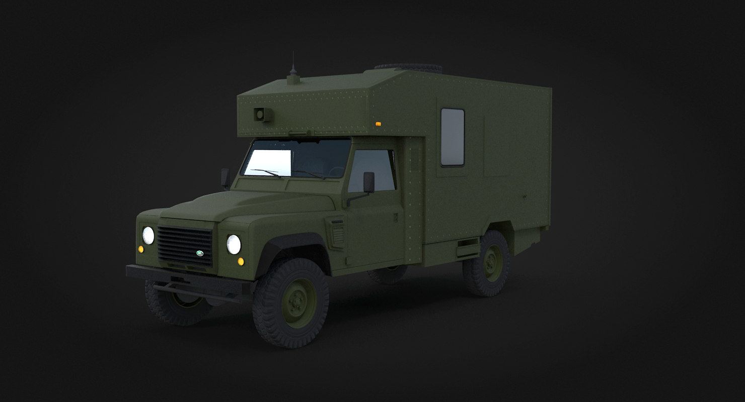 defender ambulance pbr 3D