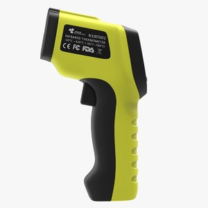 temperature gun infrared thermometer 3D