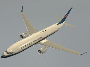 b 737-800 china southern 3D model