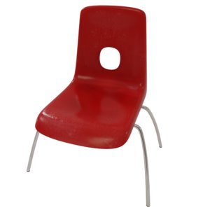 plastic chair engines pbr 3D