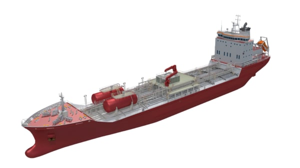 145m chemical tanker 3D model