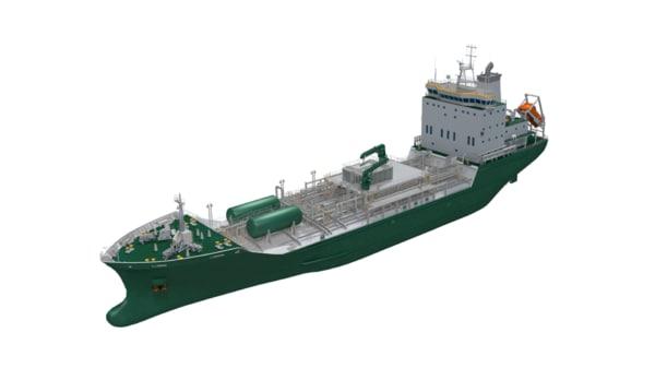 120m chemical tanker 3D model