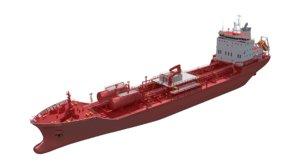3D 145m chemical tanker model