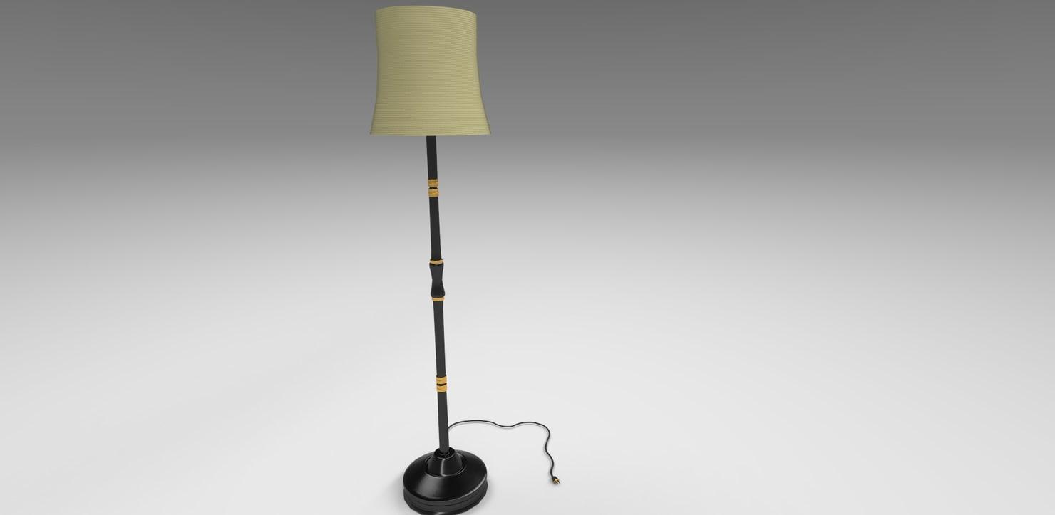 3D model lamp modeled bulb