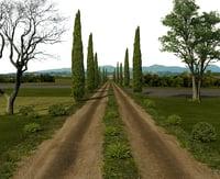 3D dirt road