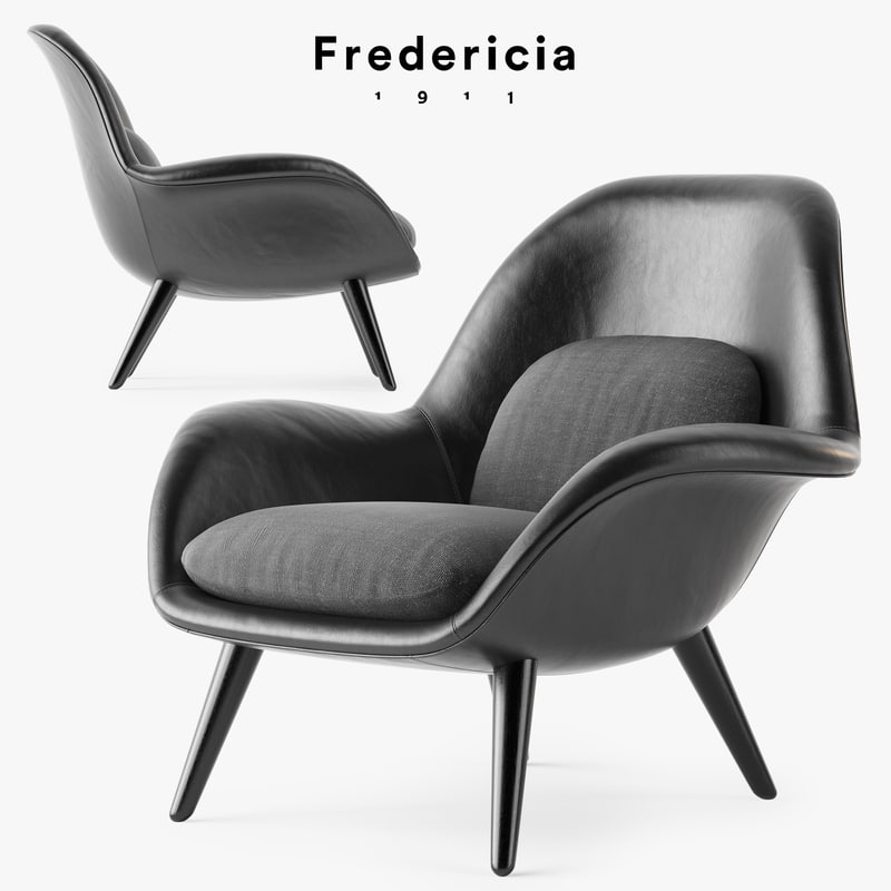3D fredericia swoon armchair model
