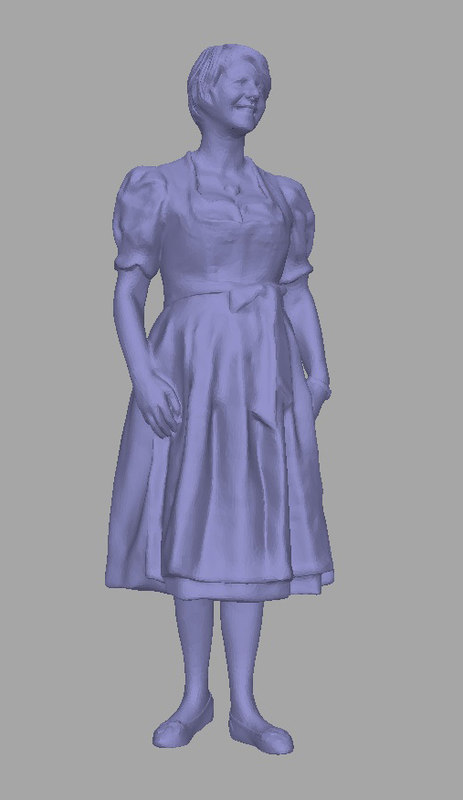 scanned person background 3D