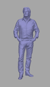 3D model scanned person background