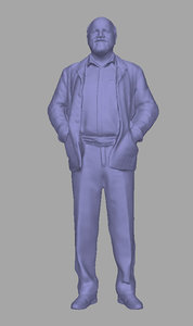 3D scanned person background