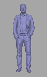 scanned person background 3D model