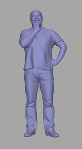 3D scanned person background model