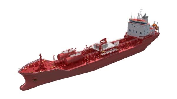 3D 145m chemical tanker air