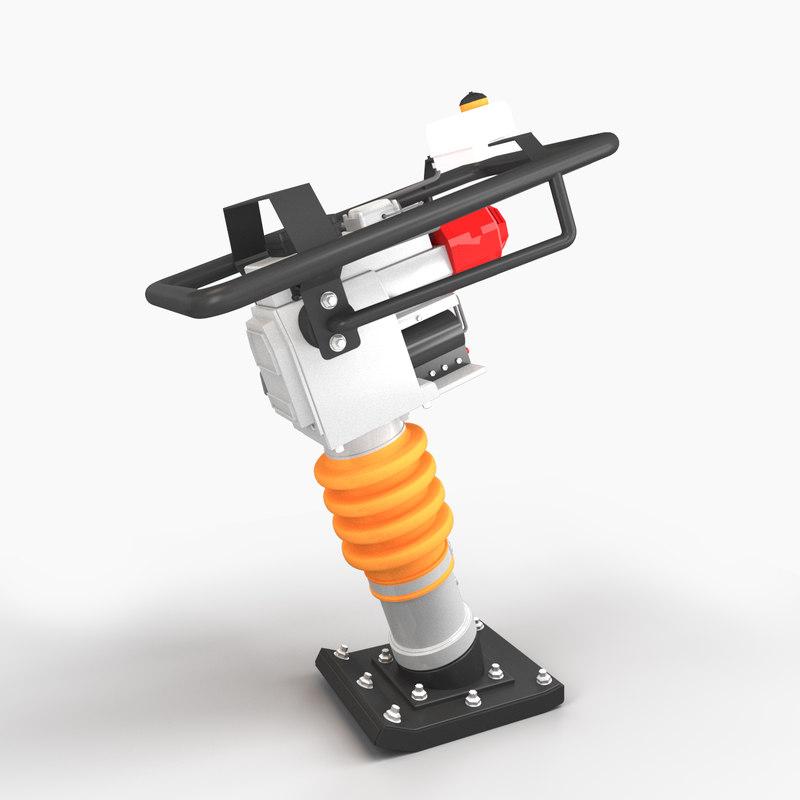 3D tamping rammer model