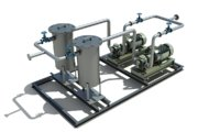 3D fuel oil transfer skid