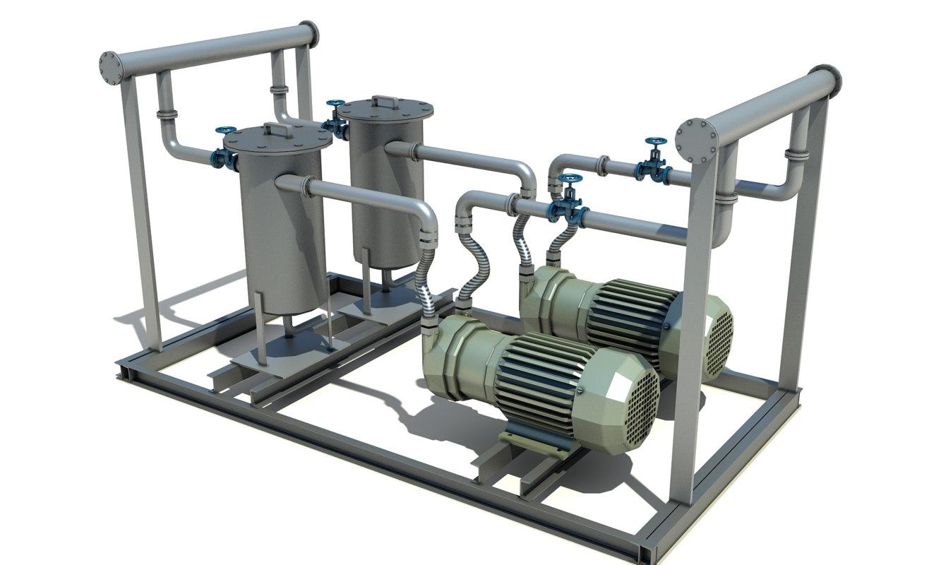 3D ringman oil transfer skid
