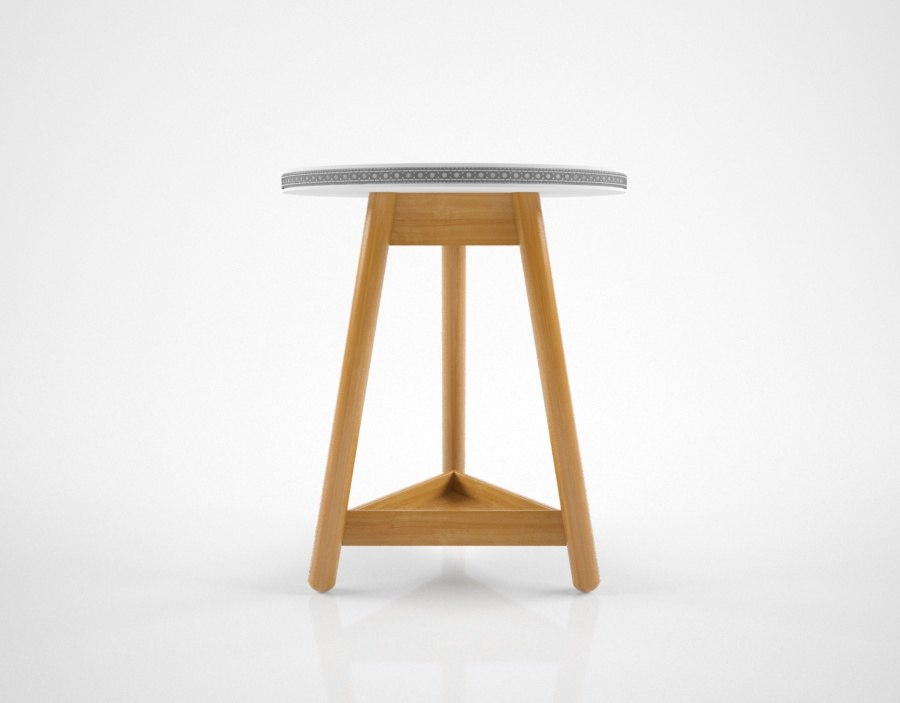 3D bethan gray brogue sidetable model