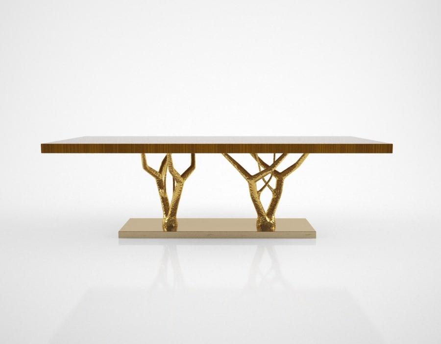 ginger jagger primitive dining table 3D model