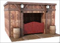 3D door west western model