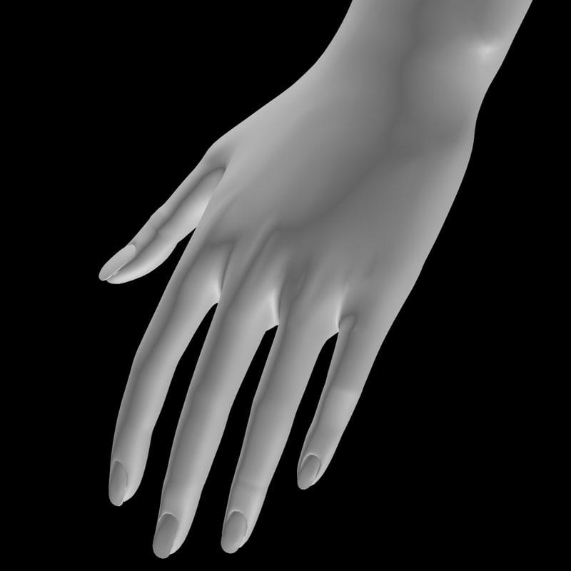 mesh female s hand 3D model
