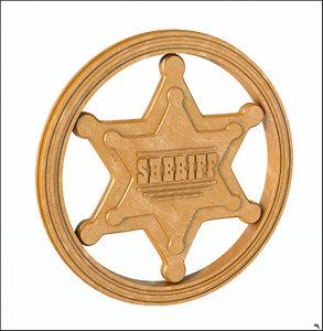 3D sheriff badge sherif