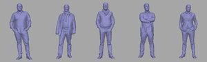 3D model men backgrounds games