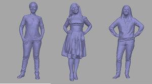 women backgrounds games 3D