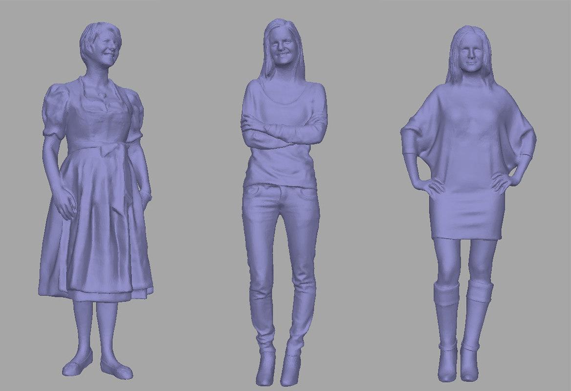 3D model women backgrounds games