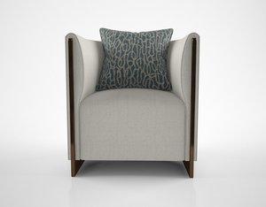 oasis adeline armchair 3D model