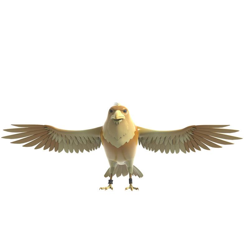 3D eagle animation model