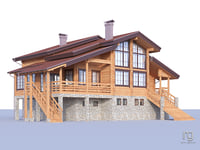 two-story cottage 3D