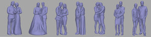 3D couples backgrounds games model