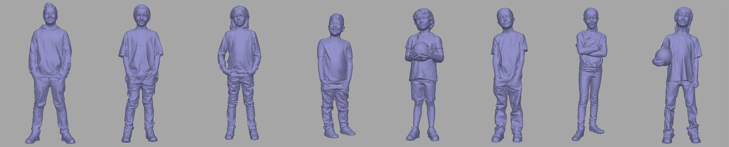 3D children kid